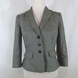 Ann Taylor Gray Wool Career Blazer 2